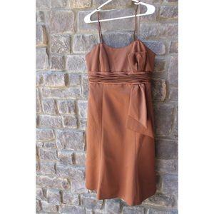 Brown Silk Formal Dress